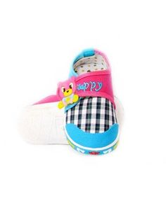 Blue Peppy Teddy Canvas Shoes