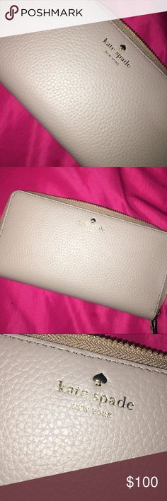 Kate spade wallet Kate spade wallet | cream leather | spacious & never been used kate spade Bags Wallets