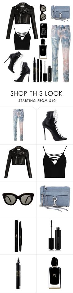 """""""Tie-Dye Jeans!"""" by lheijl ❤ liked on Polyvore featuring Faith Connexion, Dsquared2, Yves Saint Laurent, Boohoo, Victoria Beckham, Rebecca Minkoff, Marc Jacobs, MAC Cosmetics, Giorgio Armani and Casetify"""