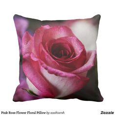 #Pink #Rose #Flower #Floral #Pillow