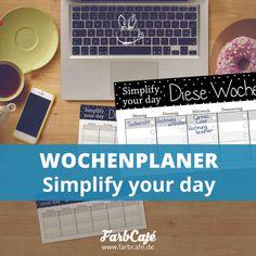 Wochenplaner als kostenloses PDF zum Herunterladen auf farbcafe.de