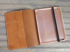 Personalized IPAD2, 3, 4th Generation Hand-Stitched Leather Portfolio Case Sleeve Tan Vegetable Tanned Leather (Free Monogramming). $138.00, via Etsy.