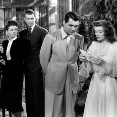 The Philadelphia Story - Jimmy, Cary, and Katherine