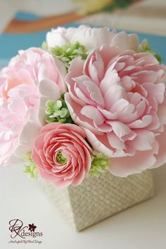 Handcrafted clay flowers by DK designs