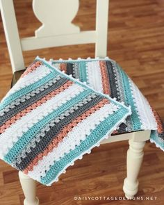 Easy Afghan Crochet Patterns Crochet Blanket Pattern A Quick Simple Pattern Daisy Cottage Easy Afghan Crochet Patterns 13 Free Crochet Afghan Patterns. Easy Afghan Crochet Patterns W. Crochet Afghans, Modern Crochet Blanket, Granny Stripe Blanket, Crochet Blanket Border, Crochet Stitches For Blankets, Granny Square Crochet Pattern, Crochet Granny, Quick Crochet Blanket, Crochet Squares