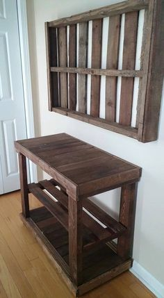 Entry Table with Coordinating Pallet Frame $125 for FULL set.  Stain color of your choice