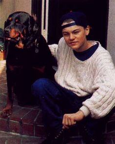 leonardo dicaprio and his dog baby swoooooon
