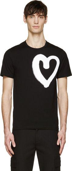 Acne Studios - Black Eddy Symbol Heart T-Shirt