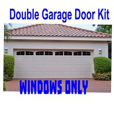 Carriage House Style Faux Windows Garage Door Vinyl Decals - No Faux Hardware #WrenGifts