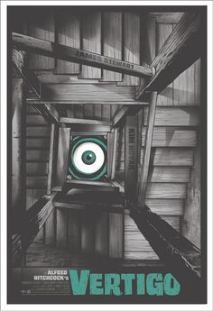 Alfred Hitchcock's Vertigo Movie Poster by Mondo