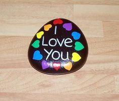 "Galet peint ""I Love You"""