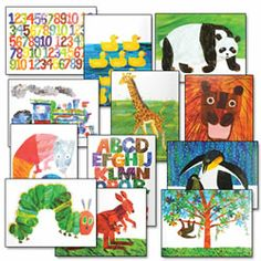 Eric Carle Decorative Prints - I ordered these for Madeline and Daniel's room!  Can't WAIT for them to get here so I can put them up!! :D