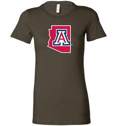 NCAA University of Arizona Wildcats U of A - Bella Ladies Favorite Tee - 15UA-1-a