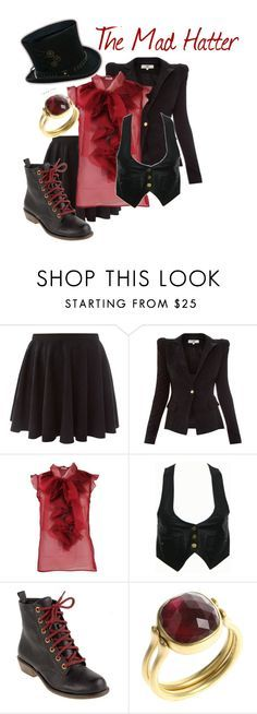 """The Mad Hatter"" by amyrappa ❤ liked on Polyvore featuring Oscar de la Renta, Dirty Laundry, Marie Hélène de Taillac, alice in wonderland, the mad hatter, once upon a time, ouat, jefferson and disney"