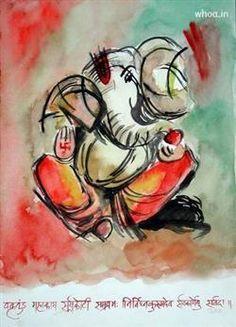 Vakra Tunda Mahakaya Hand Painting, Ganesh Chaturthi Greetings, Ganesh Chaturthi Fb Covers, Ganesh Chaturthi Images For Facebook