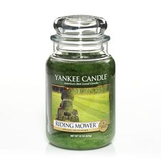 This is my absolute fav! I'm so weird, I know, but 'Riding Mower': Yankee Candle. Something about the fragrance of freshly cut grass!!!!