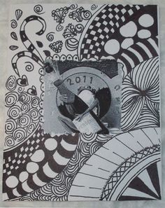 zentangle by cacbeary, via Flickr