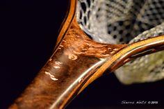 Avocado burl fly fishing net by Sierra Nets