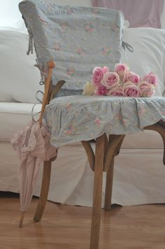 """Rachel Ashwell Shabby Chic Couture """"Anastasia"""" cover for my August Chair~ <3"""