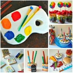 Toddler Party Ideas - Art themed party