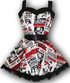 HELL BUNNY Club MINI DRESS Goth GOSSIP Punk Emo: Amazon.co.uk: Clothing