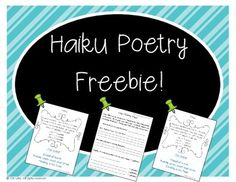 If you are looking for a fun, comprehensive poetry unit (where students create a final poetry book portfolio piece) then you must see my Poetry Unit: Writer's Workshop Bundle!  Here is a freebie from the unit, for some spring time poetry writing...Haiku Poems!