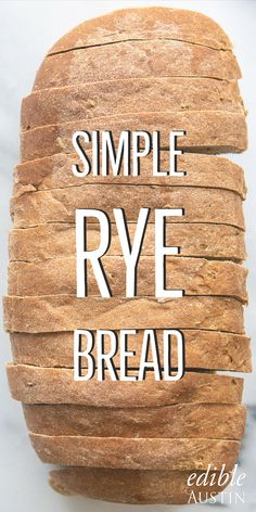 Simple Rye Bread Simple Rye Bread Baking bread is a skill that can be mastered by working your way up from simple recipes to those that are more complex. Get started with this simple yet delicious rye! Homemade Rye Bread, Rye Bread Recipes, Bread Machine Recipes, New York Rye Bread Recipe, No Knead Rye Bread Recipe, Polish Rye Bread Recipe, Recipes With Rye Flour, Marble Rye Bread Recipe, Gourmet