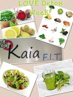 Detox week: Add 7 veggies & 4 fruits a day, cut sugar and eat a big salad for lunch.