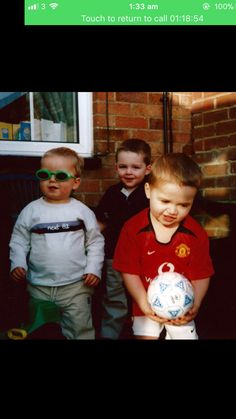 Baby picture of me and the squad lol. Fun fact. The kid in the red shirt goes to my college