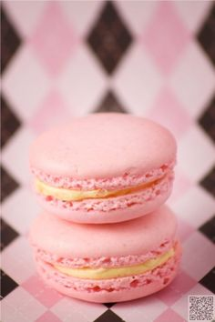 6. Pink #Macarons - Here Are the 45 Most Mouthwatering Macarons You'll Ever See ... → Food #French