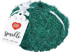 Red Heart Sparkle 8961 Green Polyester Craft Yarn Yarns, Sparkle, Country, Green, Crafts, Manualidades, Rural Area, Country Music, Handmade Crafts