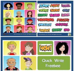 WRITING ACTIVITY: Quick Write Freebee:  Students will assume the identity of a character,  use a random word as springboard for a timed  writing exercise, draft a 10 minute narrative, and share. (FREE) If you like this, leave feedback and I'll make more!