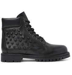 2ValentinoStudded Leather Boots