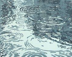 AnneRackleyStudio: Puddles linocut