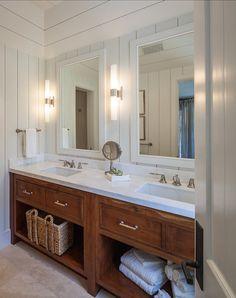 Laura Hay Decor Design - bathrooms - craftsman style bathrooms, craftsman bathroom, craftsman double vanity, craftsman washstand, craftsman ...
