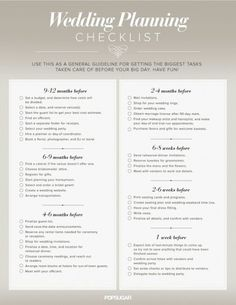 Wedding PlannerPrintable Wedding PlannerWedding Checklists