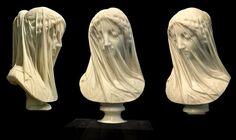 The Veiled Virgin, Giovanni Strazza, ca 1855