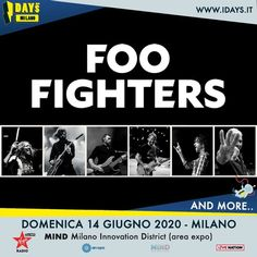 US rock band Foo Fighters play i-Days Milano festival 2020 Foo Fighters, Rock Bands, Innovation, Mindfulness, Day, Movie Posters, Festivals, Musica, Concert