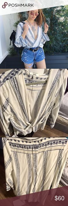 LF Boho Wrap Blouse LF Boho Wrap Blouse. Like new condition. US S/AUS 8. Lower offsite. LF Tops