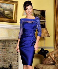 Cheap robe de cocktail courte, Buy Quality robe de cocktail directly from China purple cocktail Suppliers: Robe De Cocktail Courte 2016 New Sexy Scoop Neck Elegant Appliques Beaded Three Quarter Purple Women Party Dress Vestidos Longos Mother Of Bride Outfits, Mother Of Groom Dresses, Bride Groom Dress, Groom Outfit, Mothers Dresses, Mother Of The Bride, Bride Dresses, Bride Suit, Banquet Dresses
