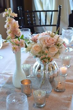 milk glass centerpieces for weddings | ... vintage wedding decor milk glass and mason jar wedding centerpieces