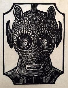 ARTIST: Woodcut Emporium aka Brian Reedy (US) |   via: #Yellowmenace |   ● Asian Star Wars Art Collection: Featuring 40+ rebellious artworks @ YM Blog > http://blog.yellowmenace.net/2017/01/asian-star-wars-art-collection.html |   #StarWars #AsianInspired #popart #fanart #Greedo