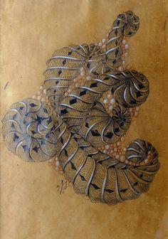 Renaissance Tiles & Sakura Pigma Micron01 Brown Pen - News from Zentangle, Nov. 30, 2013