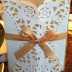 Hand-made wedding invitation