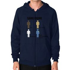 Same Crime Zip Hoodie (on man) Shirt