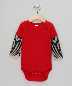 Red Tattoo Layered Bodysuit - Infant $19.99