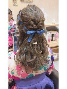 ハーフアップ Kawaii Hairstyles, Headband Hairstyles, Cute Hairstyles, Gorgeous Hair Color, Cool Hair Color, Lolita Hair, Black Girl Braided Hairstyles, Hair Arrange, Aesthetic Hair
