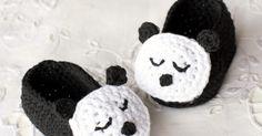 Hopeful Honey | Craft, Crochet, Create: Sleepy Panda Baby Booties - Free Crochet Pattern