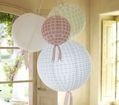 We're gonna put some asian lanterns in the baby's room - leftovers from our wedding reception!
