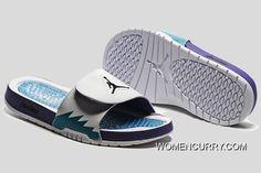 f381e0dd468c Air Jordan Hydro 5 White Blue Purple Slide Sandals. Nike Kd ShoesVans  ShoesCheap ...